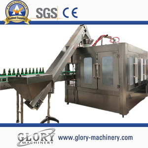 Automatic Glass Bottle soft drink soda filling machine