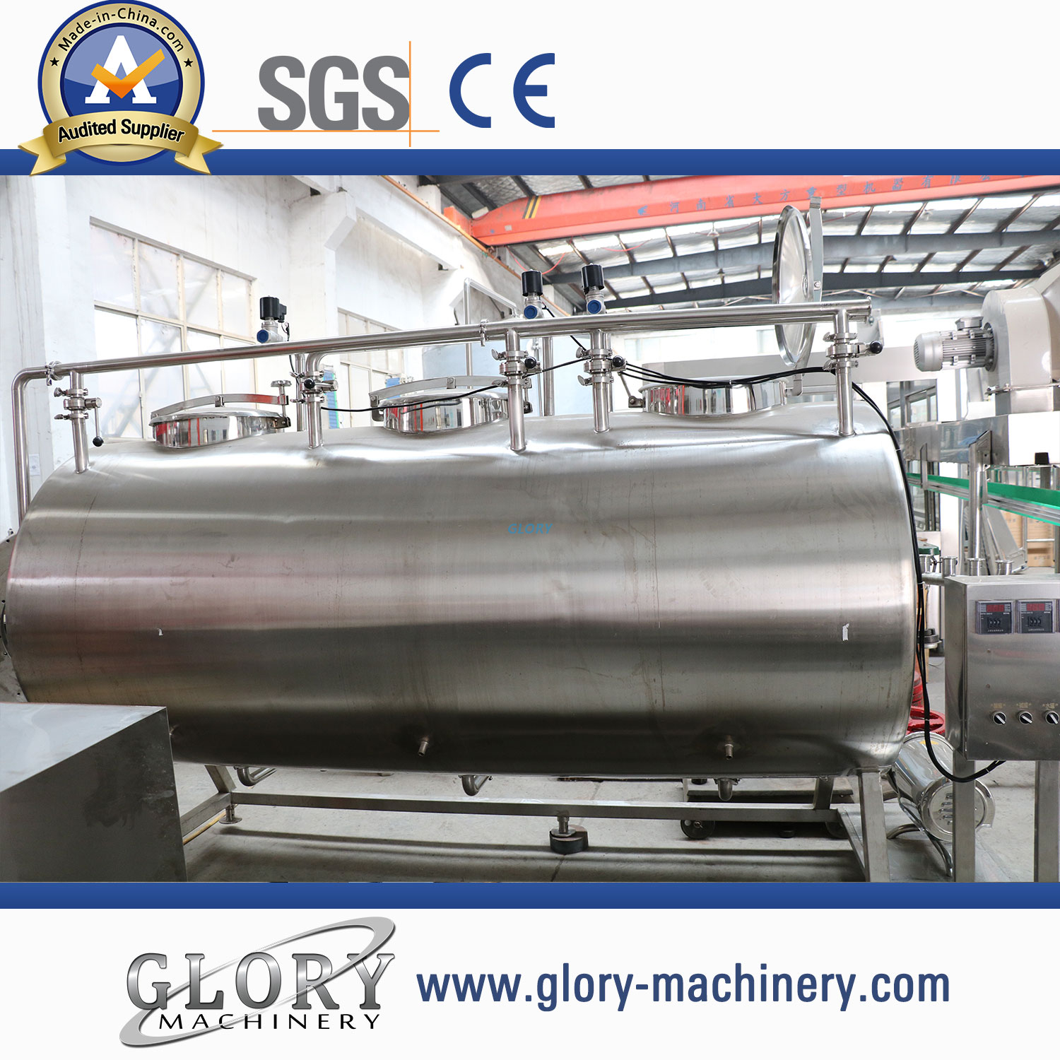 Semi-automatic CIP system for juice and beverage