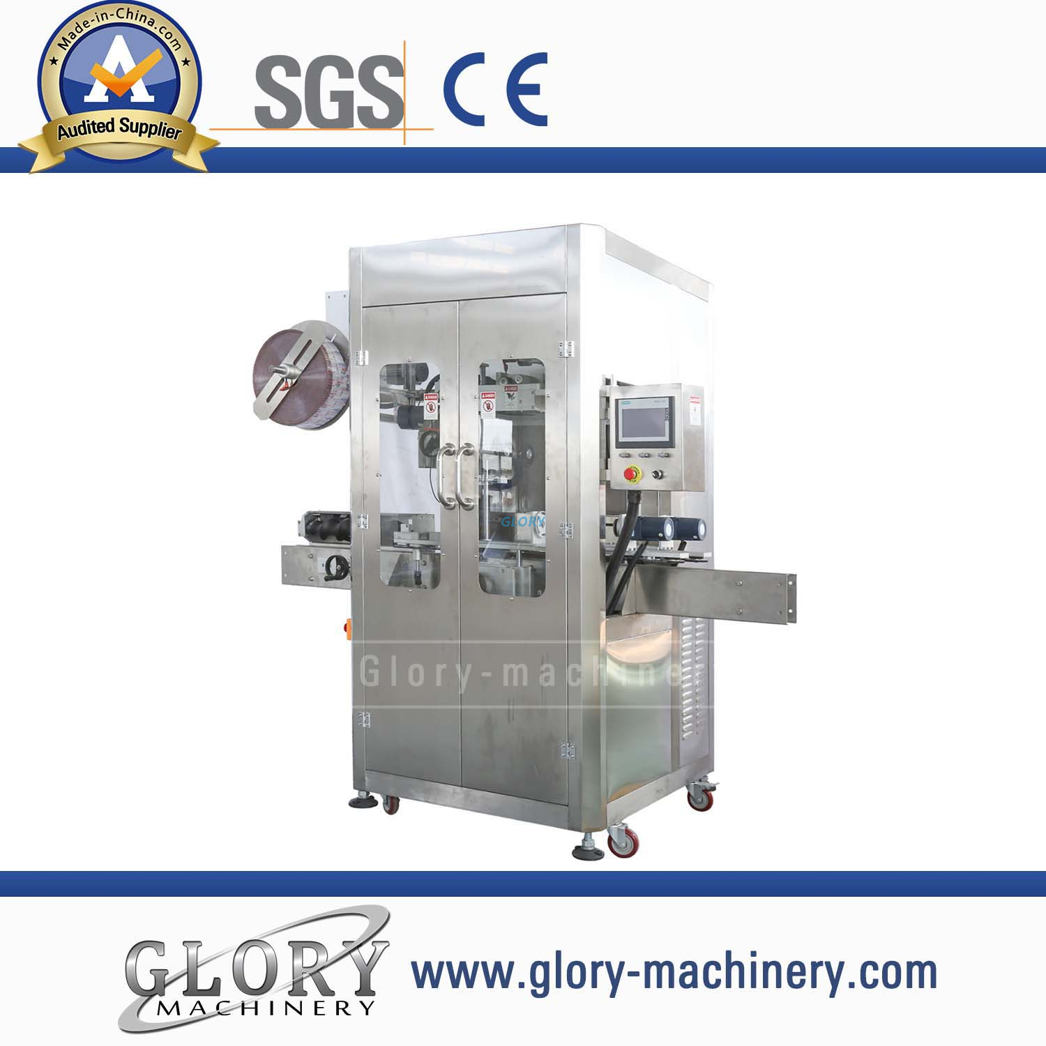 Automatic shrinking sleeve labeling machine